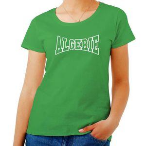 a93fbd1428d T-SHIRT T-shirt Femme Vert WC0011 ALGERIE ALGERIA