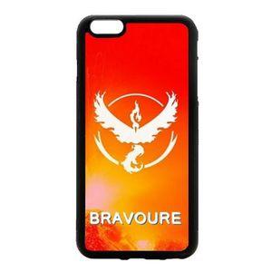CASQUETTE Coque 2d pour iPhone Pokemon go team valor bravour