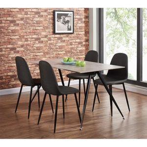 TABLE À MANGER COMPLÈTE Ensemble table + 4 chaises LA GOMERA. Ce set trouv