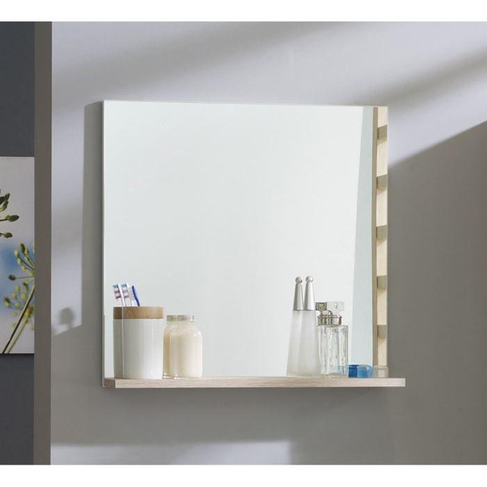 miroir riga l60 cm ton bois clair achat vente miroir panneaux de particules paisseur 16 mm. Black Bedroom Furniture Sets. Home Design Ideas