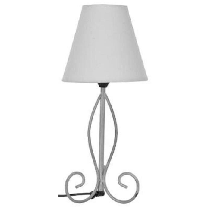 lampe de chevet metal 38 cm pied blanchi abat jour 5 Frais Lampe De Chevet Metal Design Kgit4