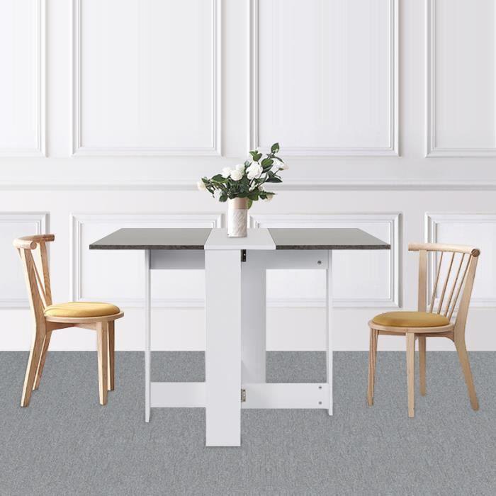 Table Pliante De Cuisine Séjour Salon Style Contemporain Table à Manger Pour 4 Personnes