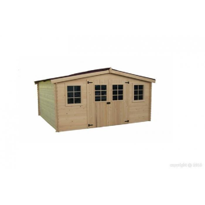 Abri de jardin en bois 4x3 m paisseur 28 mm bandol achat vente abri jardin chalet abri de - Abri de jardin yardmaster m angers ...