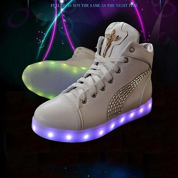 2016 Femme simulation USB charge conduit chaussures lumineuse led jICDKSYUJ8