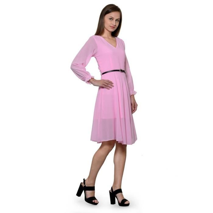 Femmes Stoplook Solide Couleur Casual Robe chasuble EVOJ1 Taille-36