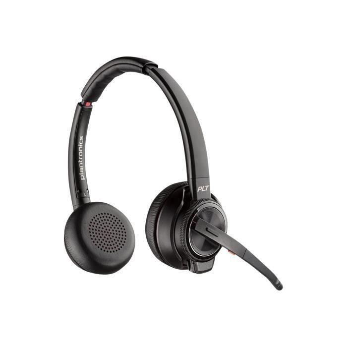 Plantronics Savi 8200 Series W8220-a Casque Sur-oreille Dect 6.0 - Bluetooth Sans Fil Suppresseur De Bruit Actif