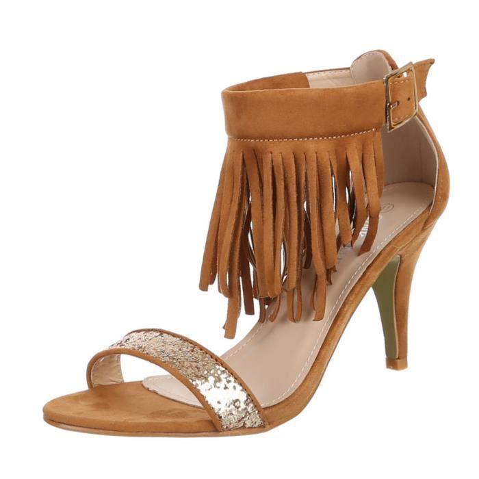 Chaussures marron Escarpins briller occupé femmes A1HwvqYrA