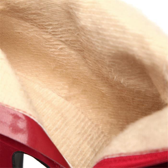 Femmes Bottine Marque De Luxe 2017 ete Qualité Supérieure Bottines Nouvelle arrivee De Talons Durable hauts Grande Plus Taille 43