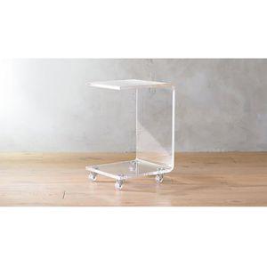TABLE BASSE Table basse avec roulettes table basse verre acryl
