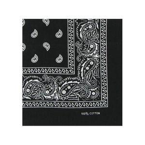 ECHARPE - FOULARD Paisley bandana noir - Lot de 12 fee742677c8