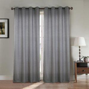 rideaux et voilages achat vente rideaux et voilages pas cher cdiscount. Black Bedroom Furniture Sets. Home Design Ideas