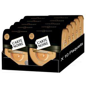 CAFÉ - CHICORÉE Carte noir classique lot de  10 x 36 Dosettes