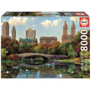 PUZZLE EDUCA - Central Park Bow Bridge 8000 pcs