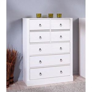 commode blanche pin massif achat vente commode blanche. Black Bedroom Furniture Sets. Home Design Ideas