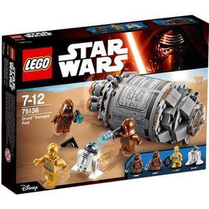 ASSEMBLAGE CONSTRUCTION LEGO® Star Wars™ 75136 Droid™ Escape Pod