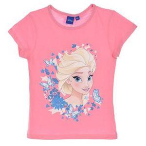 T-SHIRT LA REINE DES NEIGES T shirt fille 100% coton