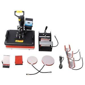PRESSE À CHAUD Presse à chaud transfert machine imprimante 8 en 1