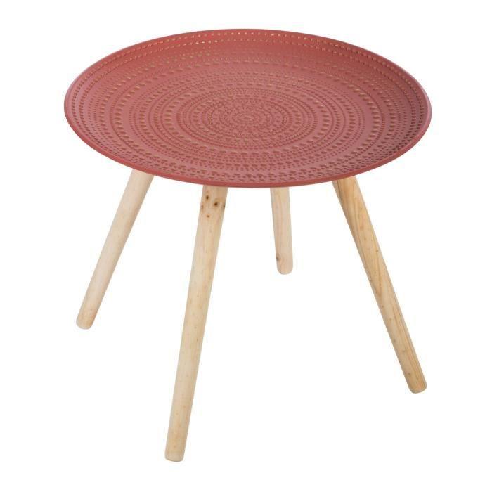 Table café Miléo nomade ronde - Couleur: Table café miléo nomade terracota