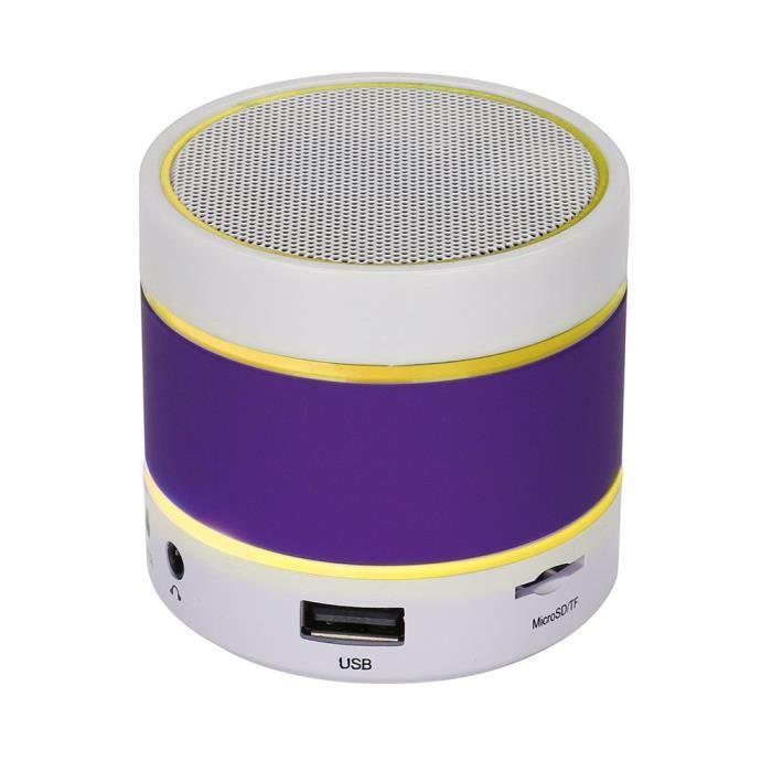 Led Bluetooth Haut-parleur Sans Fil Portable Et Carte Rechargeable Tf Pour Iphone Pp @5678