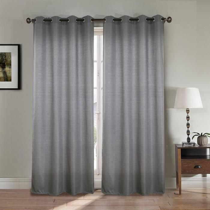 double rideaux gris zakelijksportnetwerkoost. Black Bedroom Furniture Sets. Home Design Ideas