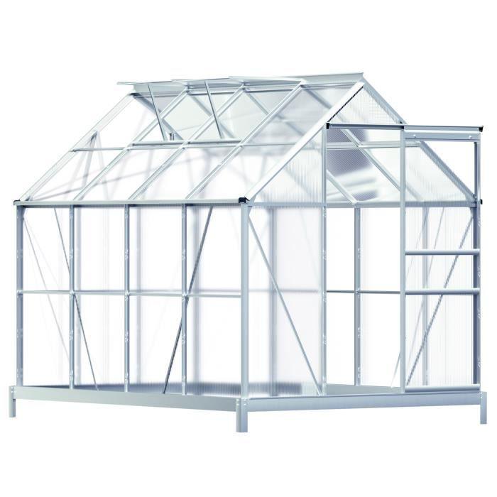 serre de jardin en alu 7 6m avec 2 fen tres une goutti re et une fondation achat vente. Black Bedroom Furniture Sets. Home Design Ideas