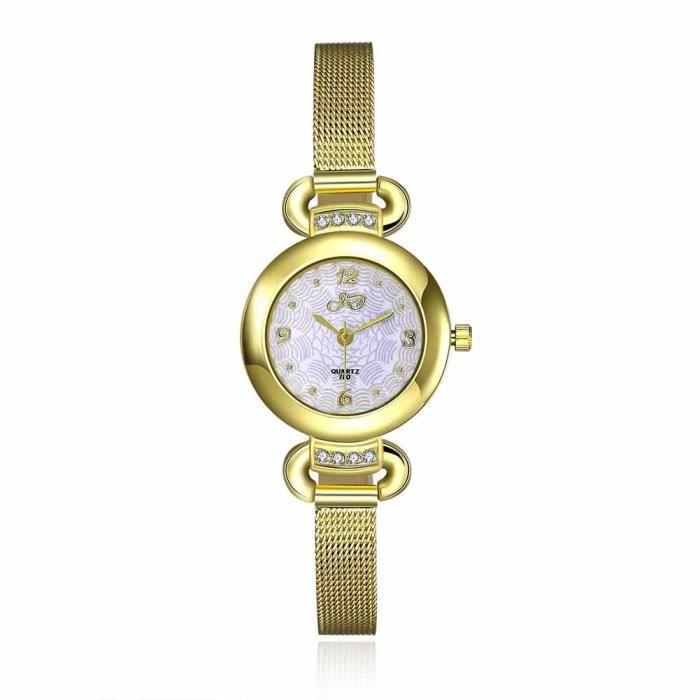 59bdf848fa7 Montre bracelet Bijou femme Métal Femme Doré Leto - Achat   Vente ...