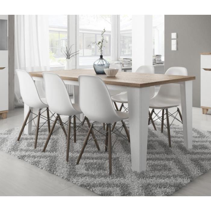 Table à manger scandinave LIER blanc/MDF 180 cm - Achat / Vente ...