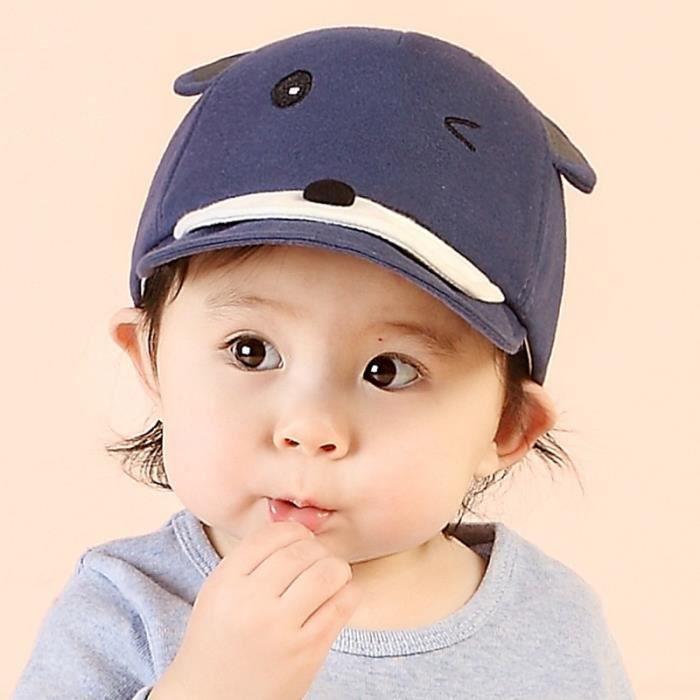 Casquette Enfant Bébé Nouveau-né Fille Garçon Unisexe Style Écureuil Mignon  Chapeau de Soleil c98ede672ae