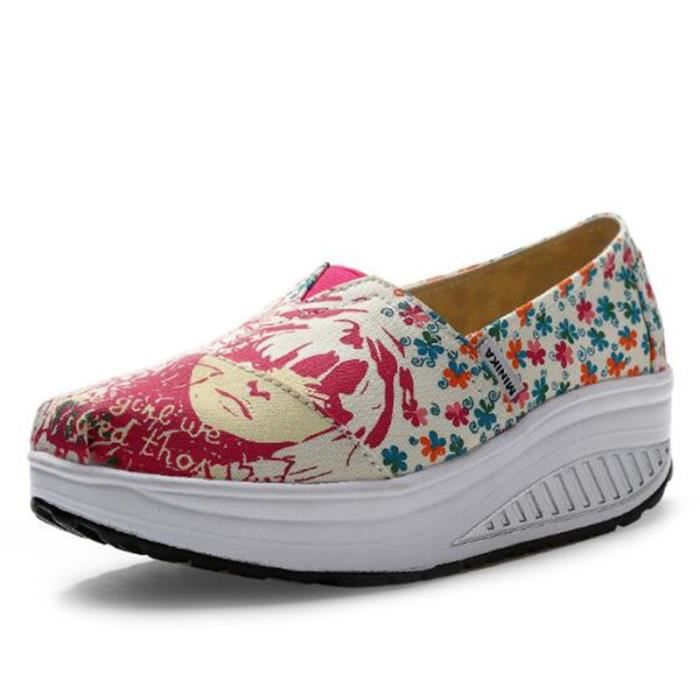 Chaussures Femmes Mode Detente Classique fond épais Chaussure BWYS-XZ087Jaune38 LTrTN94k0
