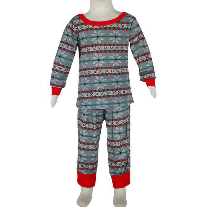 Christmas Nightwear Gift Set Kid Boy Pajamas Girl Snowflake Noël Sleepwear We4815 Family ZrZOTxwaU