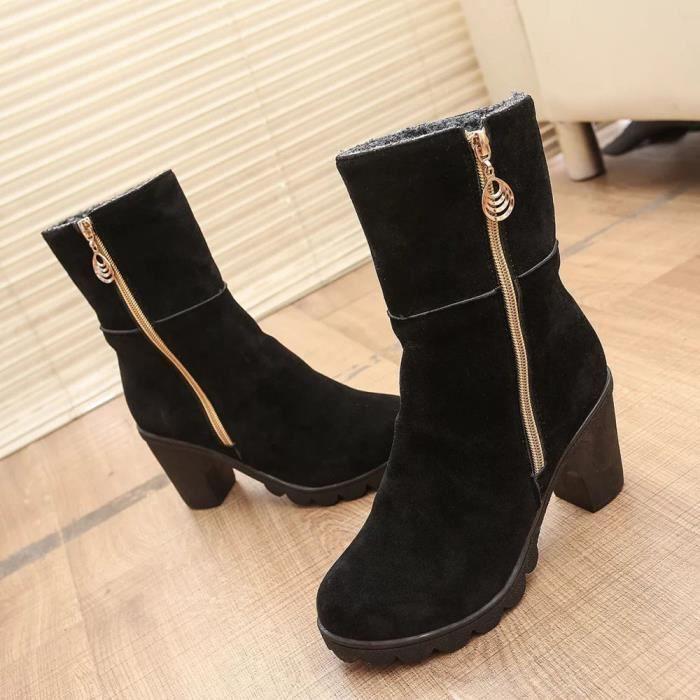 Cheville De Haut Em27044 femmes Démarrage Lansman Talon Chaud D'hiver Bottines Chaussures Martin qzI4fEwR4