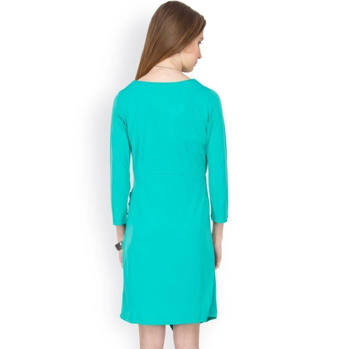 Womens Solid 3-4thsleeves Dress NUIR5 Taille-34