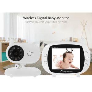 ÉCOUTE BÉBÉ BabyPhone Vidéo Sans Fil Ecoute Bébé avec Ecran 3.