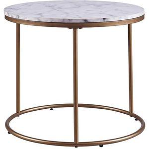 TABLE D'APPOINT Table d'appoint ronde en bois effet faux marbre pi