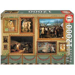 PUZZLE EDUCA - Puzzle Œuvres d'Art 12000 pcs