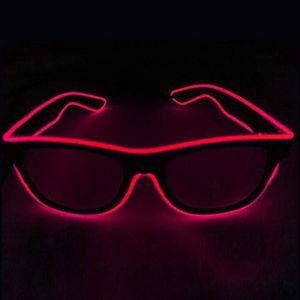 grande remise de 2019 plus près de procédés de teinture minutieux Néon LED Lumineuses Lumière Lunettes Masques Rouge - Achat ...