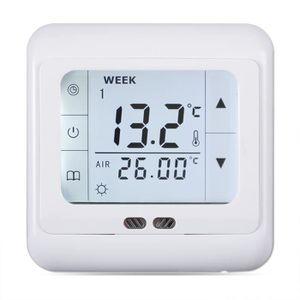 THERMOSTAT D'AMBIANCE Floureon Thermostat à écran tactile blancBYC07.H3
