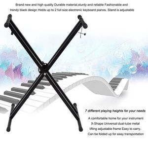 PIED SUPPORT - STAND Support pied-stand de piano pliant X Forme Noir po