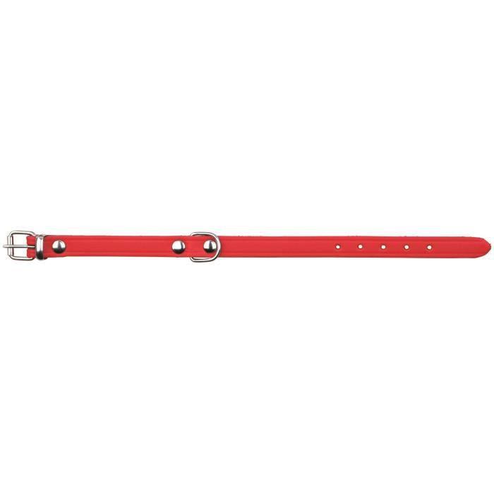 TRIXIE Basic collier - XS-S : 24-29cm / 12mm - Rouge - Pour chien