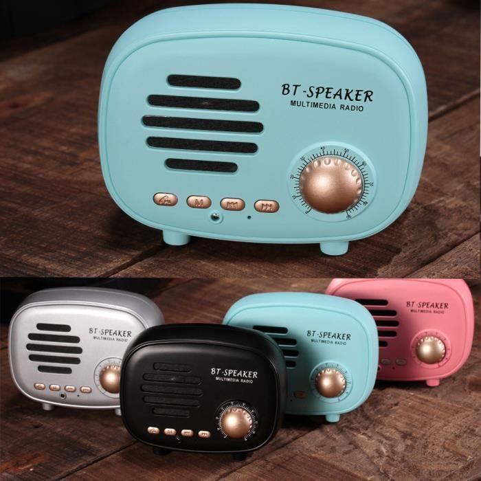 Q108 Portable Rétro Sans Fil Bluetooth Haut-parleur Stéréo Son Subwoofer