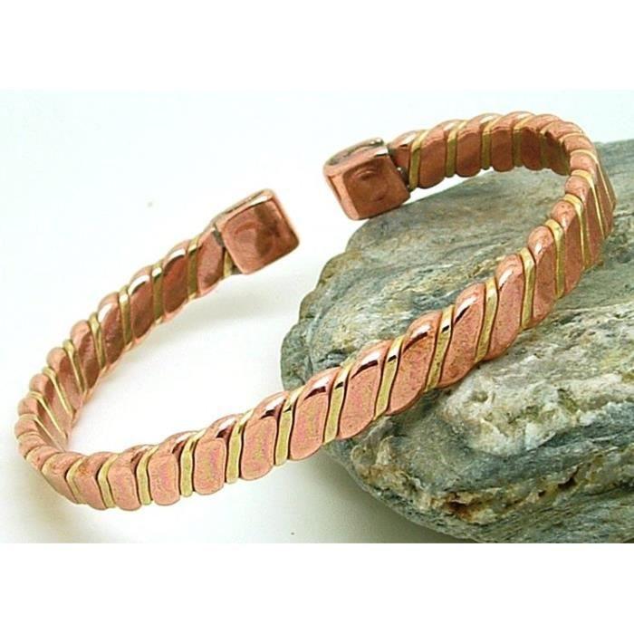 Bracelet cuivre avec aimants modèle Victoire