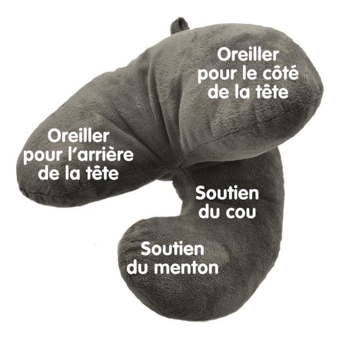 J PILLOW Cale nuque, Oreiller de voyage (Gris)   Achat / Vente