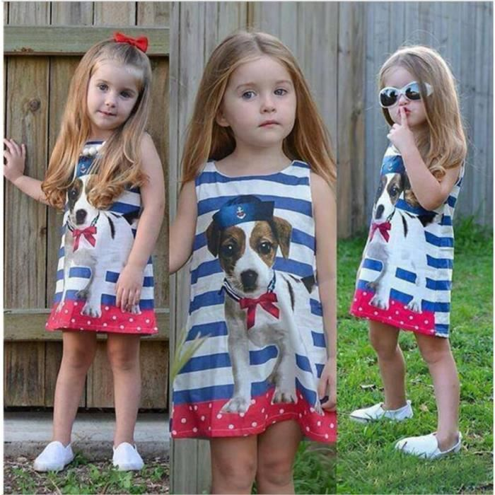 Filles Jupe droite - Striped petit chien