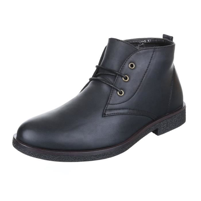 Homme Boots chaussure laçage bottine 9fGVVx5SL