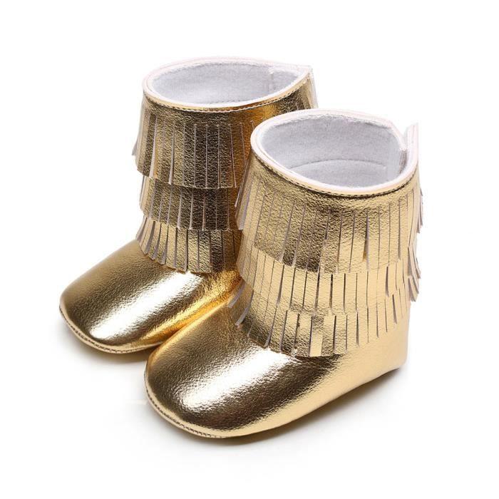 ce13f3d326650 Benjanies®Hiver 3 couches franges bébé bottes tout-petits bottes fond  molles chaussures DORE XYM708901GD