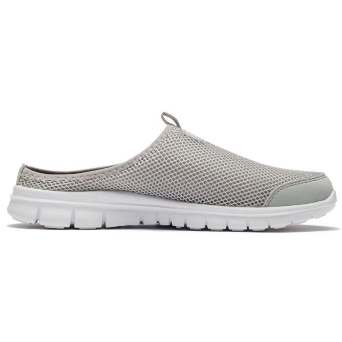 Anti-dérapant chaussons Backless Loisirs Chaussures de marche en plein air Mesh respirant Mocassins K0CK0 Taille-44 1-2 ujSpwOpF