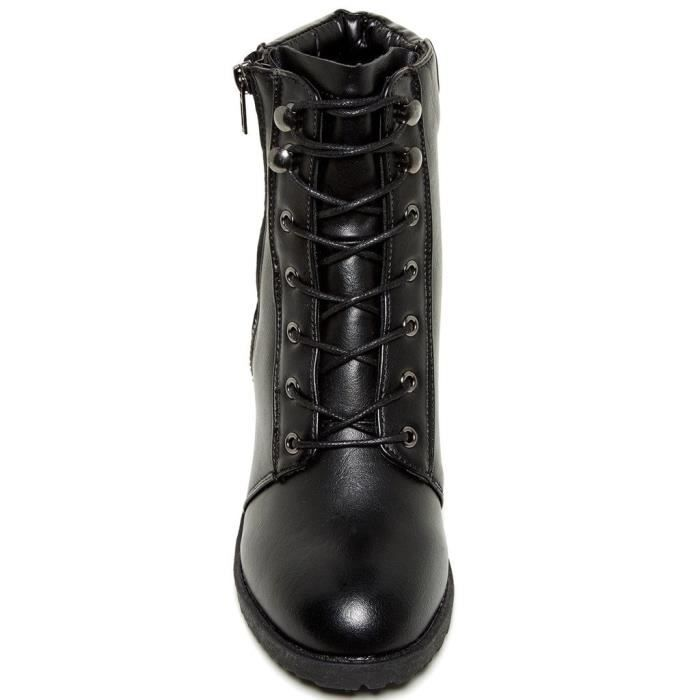 Roonies Womens Fashion Heeled Lace Up Boots HAO0W Taille-39 1-2