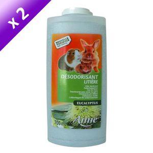 Lot de 2 - AIME Désodorisant liti?re eucalyptus - Pour rongeur