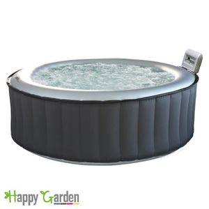 SPA COMPLET - KIT SPA Spa rond gonflable SILVER CLOUD - 4 places - anthr