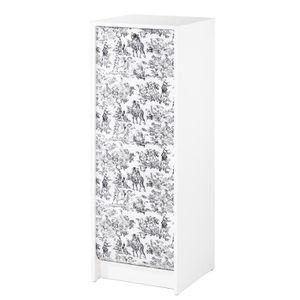 MEUBLE CLASSEMENT Classeur à rideau 37,8 cm - Blanc imprimé Toile de